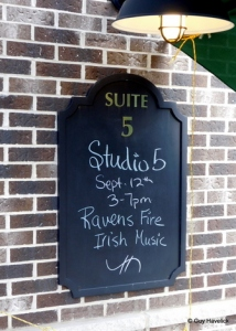 Next door to Post Town Winery - Studio 5, September 12, 2015