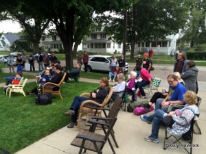 Listening to RavensFire at Kutzky Porchfest.