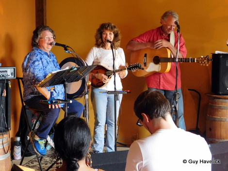 Judy, Melissa and Larry at the release party, RavensFire, Rochester MN